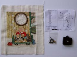Framing a Clock Embroidery with working mechanism