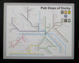 Derby Pubstops Tubestyle Map
