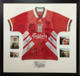 Framed Football Shirt with Photographs