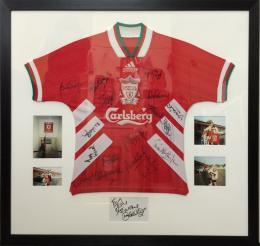 Framed Football Shirt with Photographs