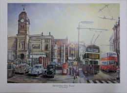 Bygone Derby Market Turnaround print by Colin Wright
