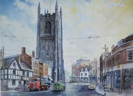 Bygone Derby Cathedral print by Colin Wright