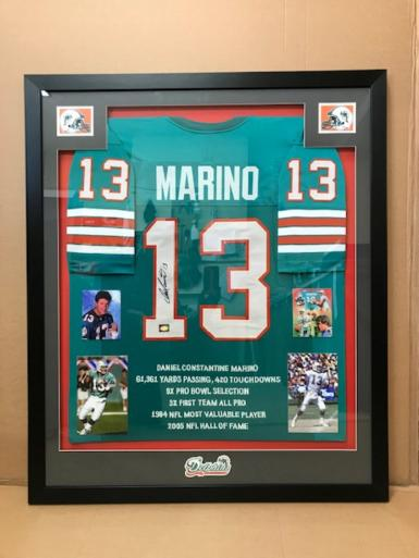 Framed Signed American Football Shirt with Photographs