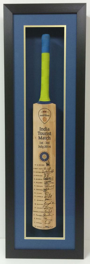 Framed-Signed-Cricket-Bat-with-Art-Glass